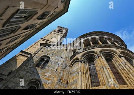 Basilica di Santa Maria Maggiore in Upper City of Bergamo - Stock Photo
