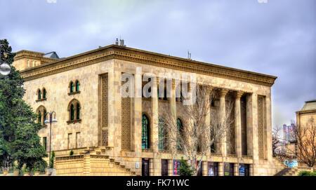 Azerbaijan State Drama Theatre in Baku - Stock Photo