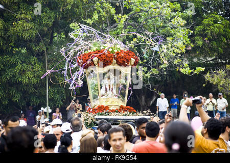 Procession of the Feast of Cirio Nazare in honor of Our Lady of Nazare - Stock Photo