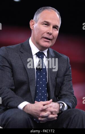Oklahoma Attorney General Scott Pruitt during the annual American Conservative Union CPAC conference at National - Stock Photo