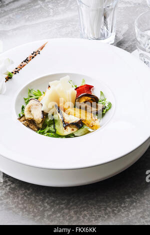Grilled veggies salad, vertical orientation - Stock Photo