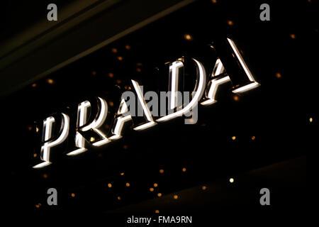 Markenname: 'Prada', Dezember 2013, Berlin. - Stock Photo