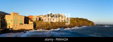 France, Pyrenees Orientales, Collioure, Moure district - Stock Photo