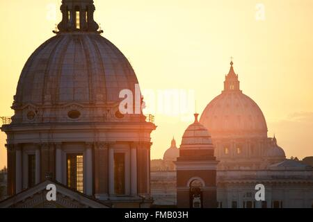 Italy, Lazio, Rome, historical center listed as World Heritage by UNESCO, San Carlo al Corso church viewed from - Stock Photo