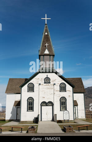 1870's era St Josephs Roman Catholic Church in Kamloops British Columbia, Canada. - Stock Photo