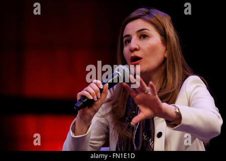 London, UK. 12th March, 2016. Vian Dakhil, Yazidi MP and former winner of the RAW in War  (Reach All Women in War) - Stock Photo