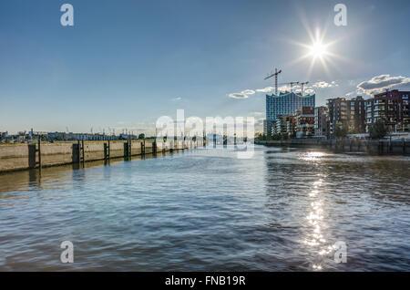 Hafencity in Hamburg HDR - Stock Photo