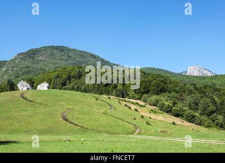 Tjentiste War Memorial in Sutjeska National Park in Republika Srpska entity, Bosnia and Herzegovina - Stock Photo