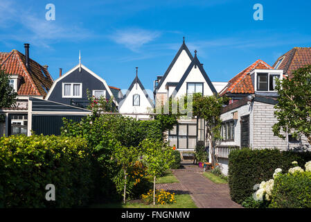 Amsterdam, Waterland district, Marken, view of the traditional house of the village - Stock Photo