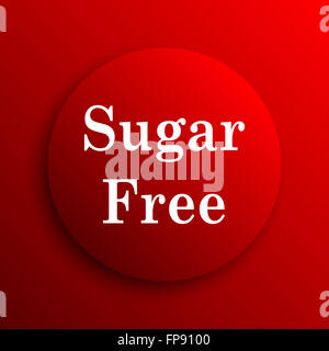 Sugar free icon. Internet button on white background. - Stock Photo