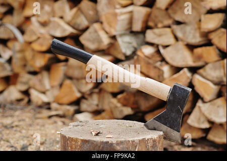 Of woodcutter axe - Stock Photo