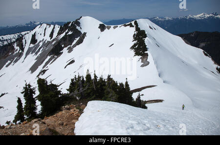 Hiking at Elfin Lakes, Garibaldi Provincial Park,  British Columbia - Stock Photo