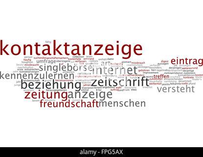 Kontaktanzeige Kontakt Anzeige Anzeigen - Stock Photo