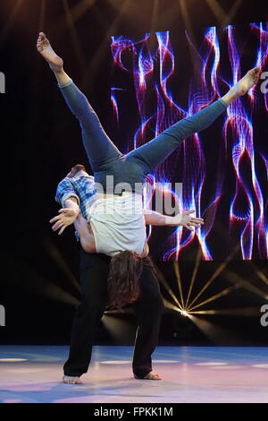 London, UK. 18th March, 2016. Motionhouse performs at Move It at Excel London, England, UK. Credit:  See Li/Alamy - Stock Photo