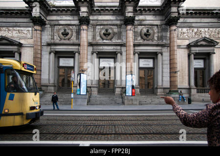 Outside entrance of the Musée Royaux des Beaux-Arts, Brussels, Belgium. This exhibition, one of the most important - Stock Photo