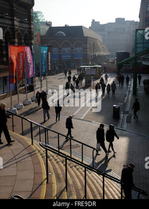 Shopping in Liverpool City Centre - Stock Photo