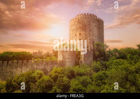Rumeli fortress in istanbul,Turkey - Stock Photo