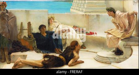 Sir Lawrence Alma-Tadema, English (born Netherlands) - A Reading from Homer - Stock Photo