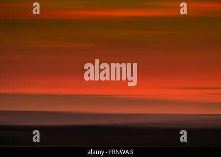 An abstract of sky and landscape - Stock Photo