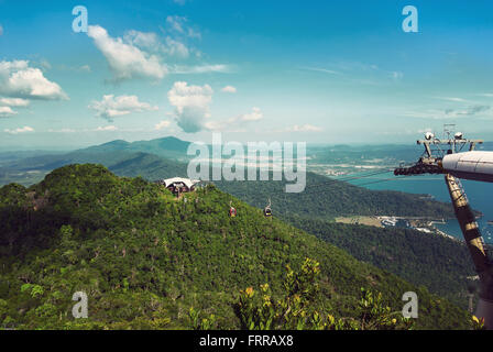 Langkawi hills cable car (Langkawi Geopark) in Malaysia - Stock Photo