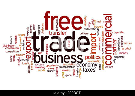 Free tradeconcept word cloud background - Stock Photo