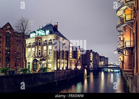 Wasserschloss building in Hansestadt of Hamburg, Germany - Stock Photo
