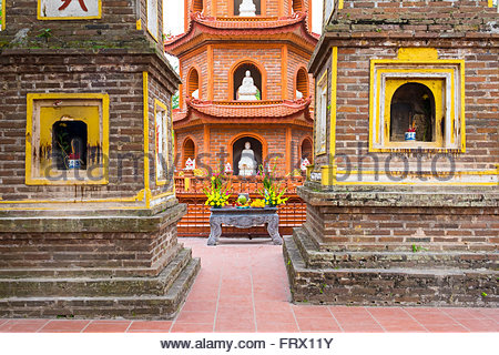 Tran Quoc Pagoda (Chua Tran Quoc), Tay Ho District, Hanoi, Vietnam - Stock Photo