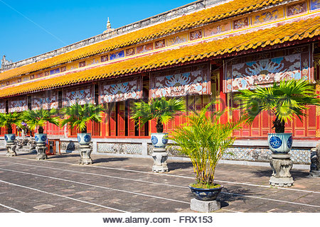 To Mieu Temple, Imperial City of Hue, Thua Thien-Hue Province, Vietnam - Stock Photo