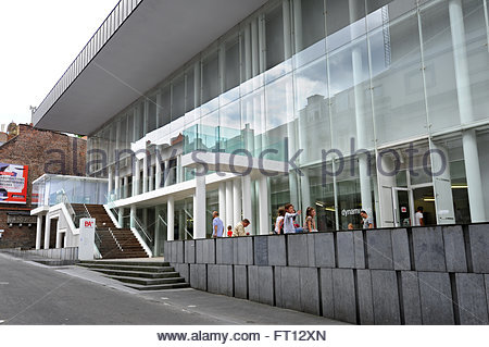Art Museum BAM, Beaux-Arts Mons, historic city centre, Mons, Bergen, European Capital of Culture 2015, Hainaut region, - Stock Photo