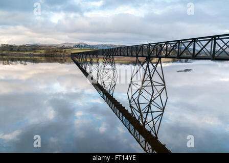 Trawsfynydd Lake or Llyn Trawsfynydd is a large man made reservoir used for the hydro electric power station in - Stock Photo