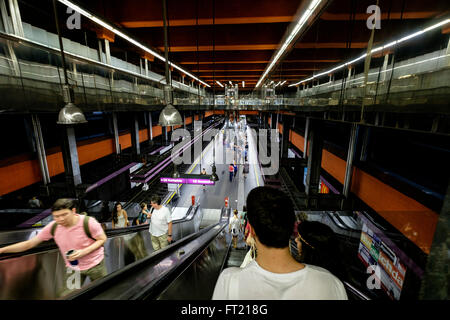 Schottenring U-Bahn subway metro station in Vienna, Austria, Europe - Stock Photo