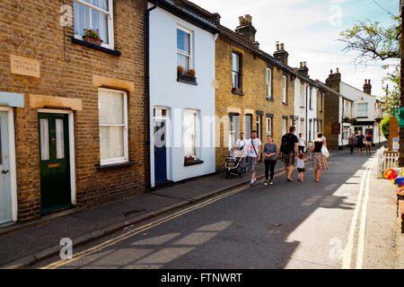 The High Street in the old town Leigh On Sea, Essex, England - Stock Photo