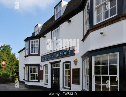 Sir John Falstaff Inn, opposite Charles Dickens's last home at Gad's Hill Place, Higham, Rochester, Kent, and beloved - Stock Photo