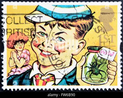 UNITED KINGDOM - CIRCA 1993: A stamp printed in Great Britain shows William Brown (William books), circa 1993 - Stock Photo