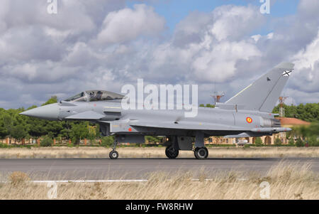 Spanish Air Force EF-2000 Typhoon during TLP at Albacete Air Base, Spain. - Stock Photo