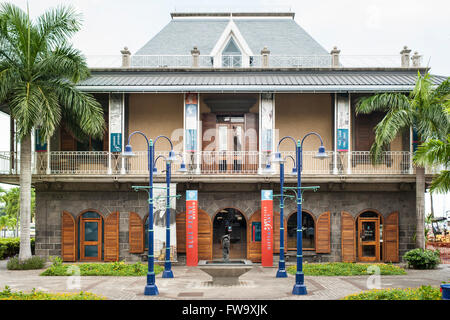 The Blue Penny Museum in Port Louis, the capital of Mauritius. - Stock Photo