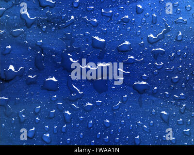 water drops on metallic surface - Stock Photo