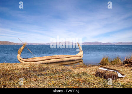 scenery around Lake Titicaca in Peru (South America) - Stock Photo