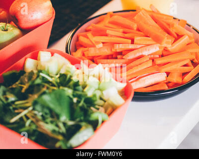 High Angle View Of Chopped Vegetables - Stock Photo