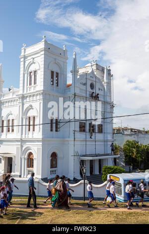 Meeran Jumma Mosque in Old Town of Galle,Sri Lanka - Stock Photo