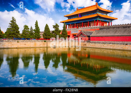 Beijing, China at the northern gate of the Forbidden City. - Stock Photo
