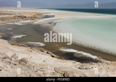 DJIBOUTI salt lake Lac Assal / DSCHIBUTI, Salzsee Lac Assal - Stock Photo