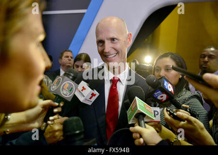 Florida Gov. Rick Scott visits the CNN, Salem Media Group, The Washington Times and The Republican National Committee - Stock Photo