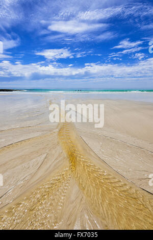 Ripples in the Sand, Sisters Beach, Tasmania, Australia - Stock Photo