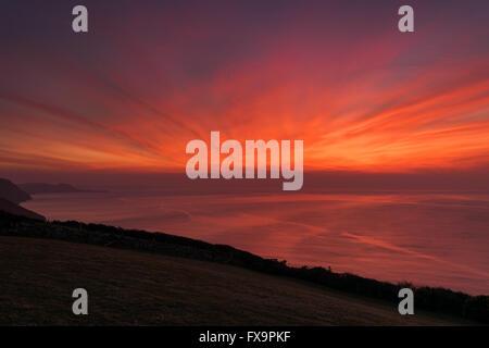 Cardigan Bay Sunset - Stock Photo