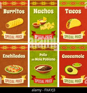 Mexican Food Poster - Stock Photo