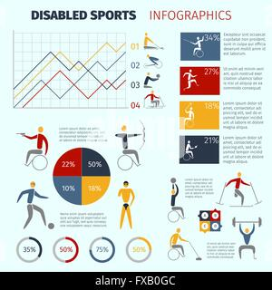Disabled Sports Infographics - Stock Photo