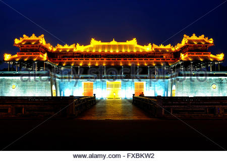 Ngọ Mon Gate to the Imperial citadel, Hue, Vietnam - Stock Photo