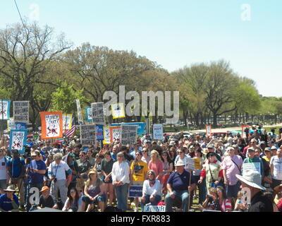 Washington, DC, USA. 17th April 2016-Day 2 of Democracy Awakening Rally and March. Photo Credit:Mark Apollo/Alamy - Stock Photo