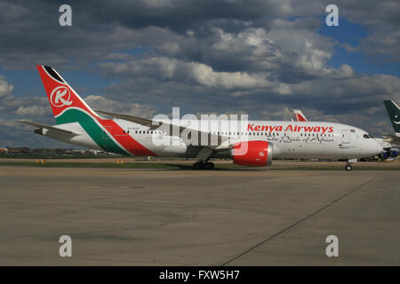 KENYA AIRWAYS BOEING 787 DREAMLINER - Stock Photo